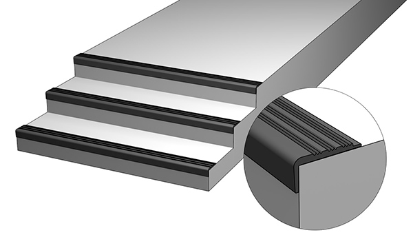 резиновые уголки на ступени